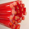 Lauscha RED- YELLOW SQUARE CANE 6 to 8 mm PER ROD