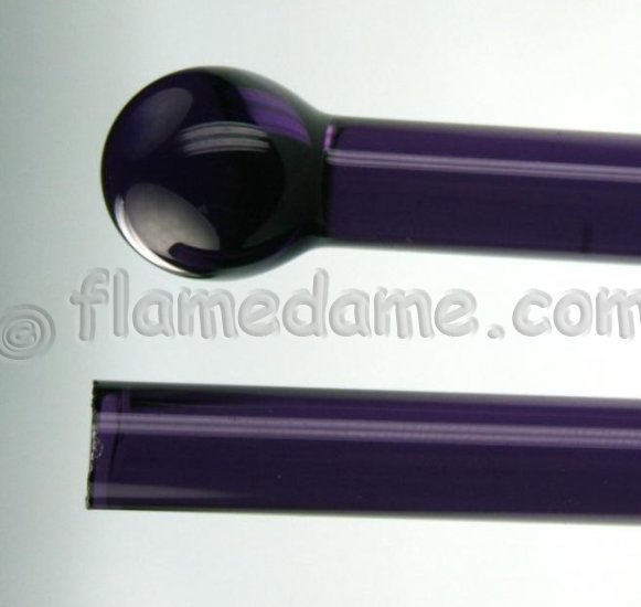Lauscha PURPLE DARK (DARK BLUE VIOLET) 7 to 9 mm Transparent - Click Image to Close