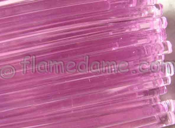 Lauscha PINK Transparent 6-8 mm - Click Image to Close