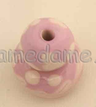 Lauscha ROSE PINK Opaque 8-10 mm - Click Image to Close