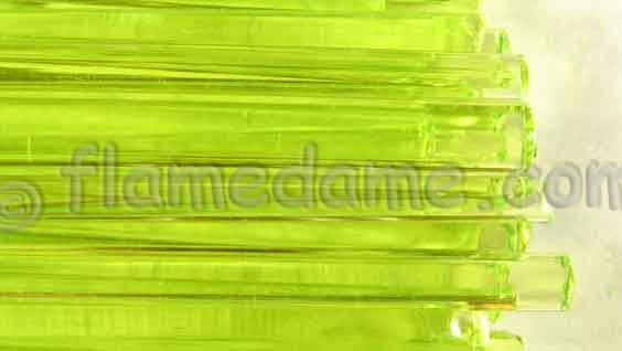 Effetre TRANSPARENT URANIUM Yellow Hand Pulled - Click Image to Close
